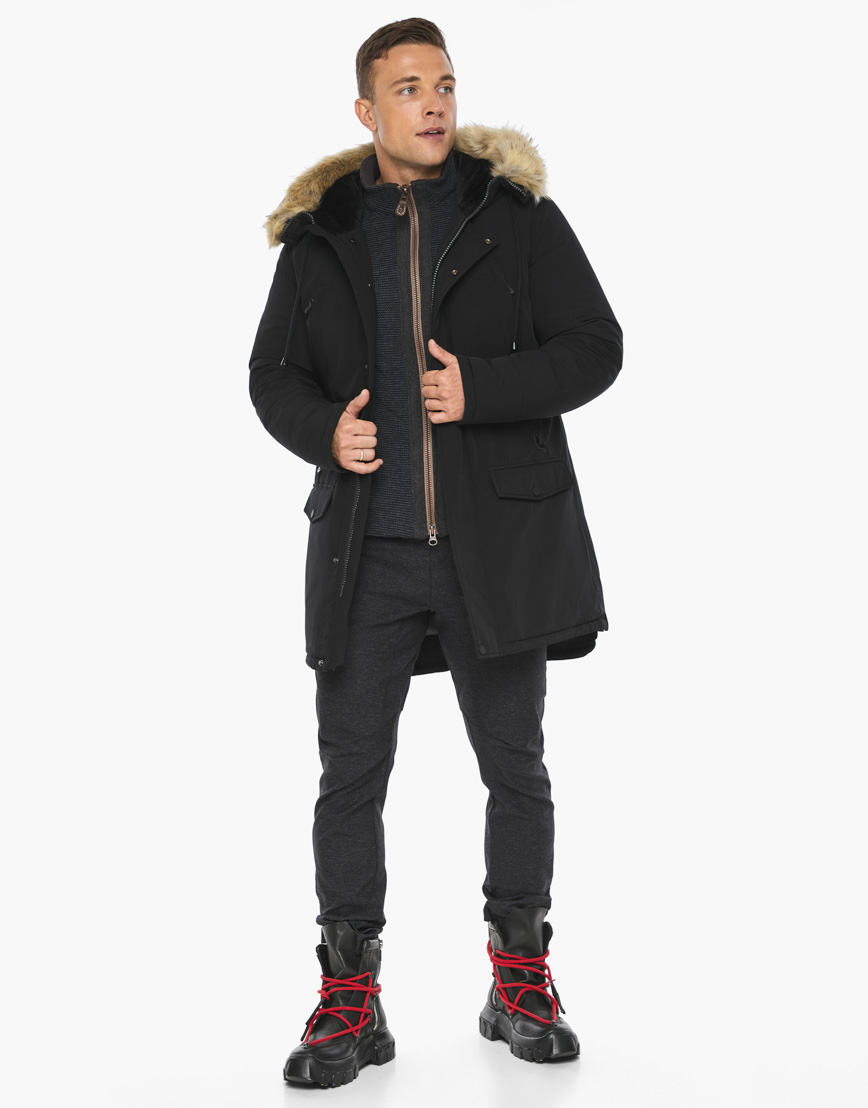 Черный воздуховик Braggart модного дизайна модель 45062 фото 2