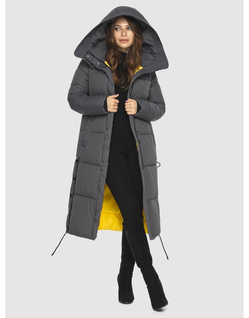 Куртка с капюшоном женская Ajento серая 23160 фото 5