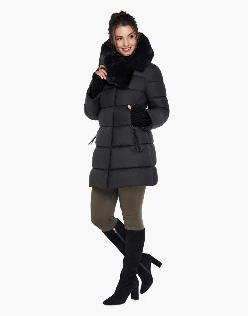 Воздуховик черный женский брендовый Braggart модель 31027 фото 4