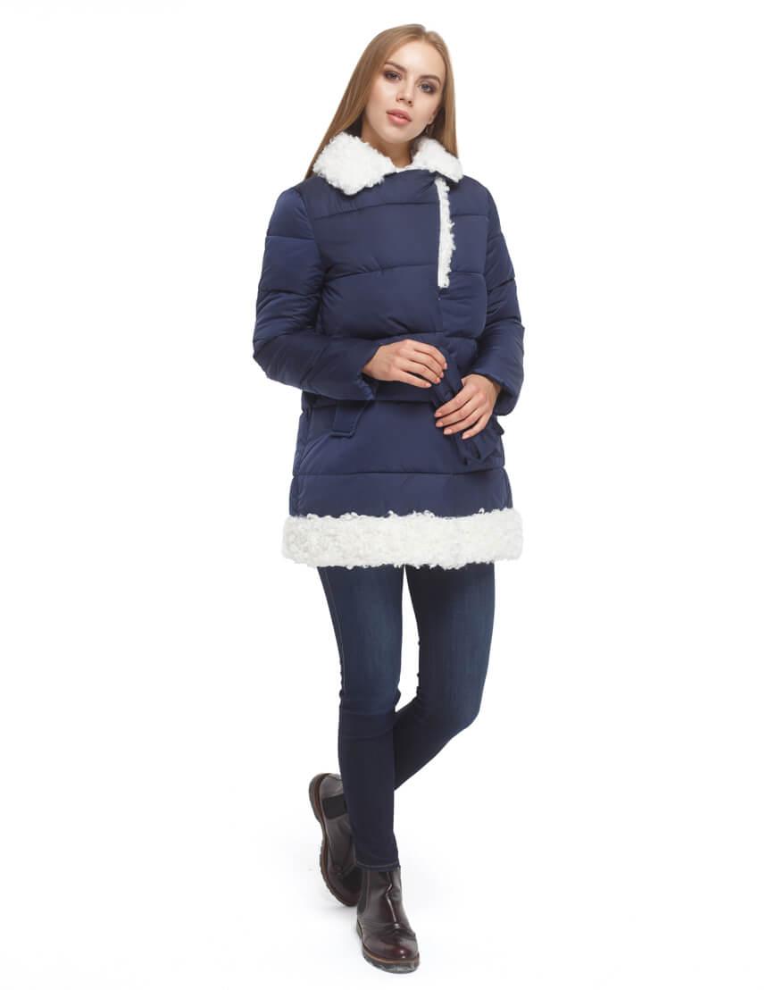 Синяя куртка женская теплая модель 5153