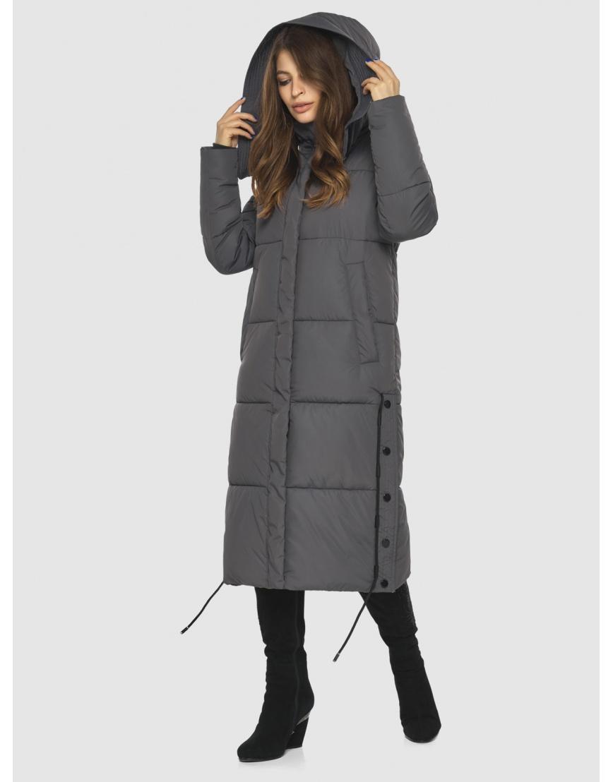 Куртка с капюшоном женская Ajento серая 23160 фото 6