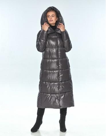 Женская зимняя куртка Ajento стильная серая 21550 фото 1