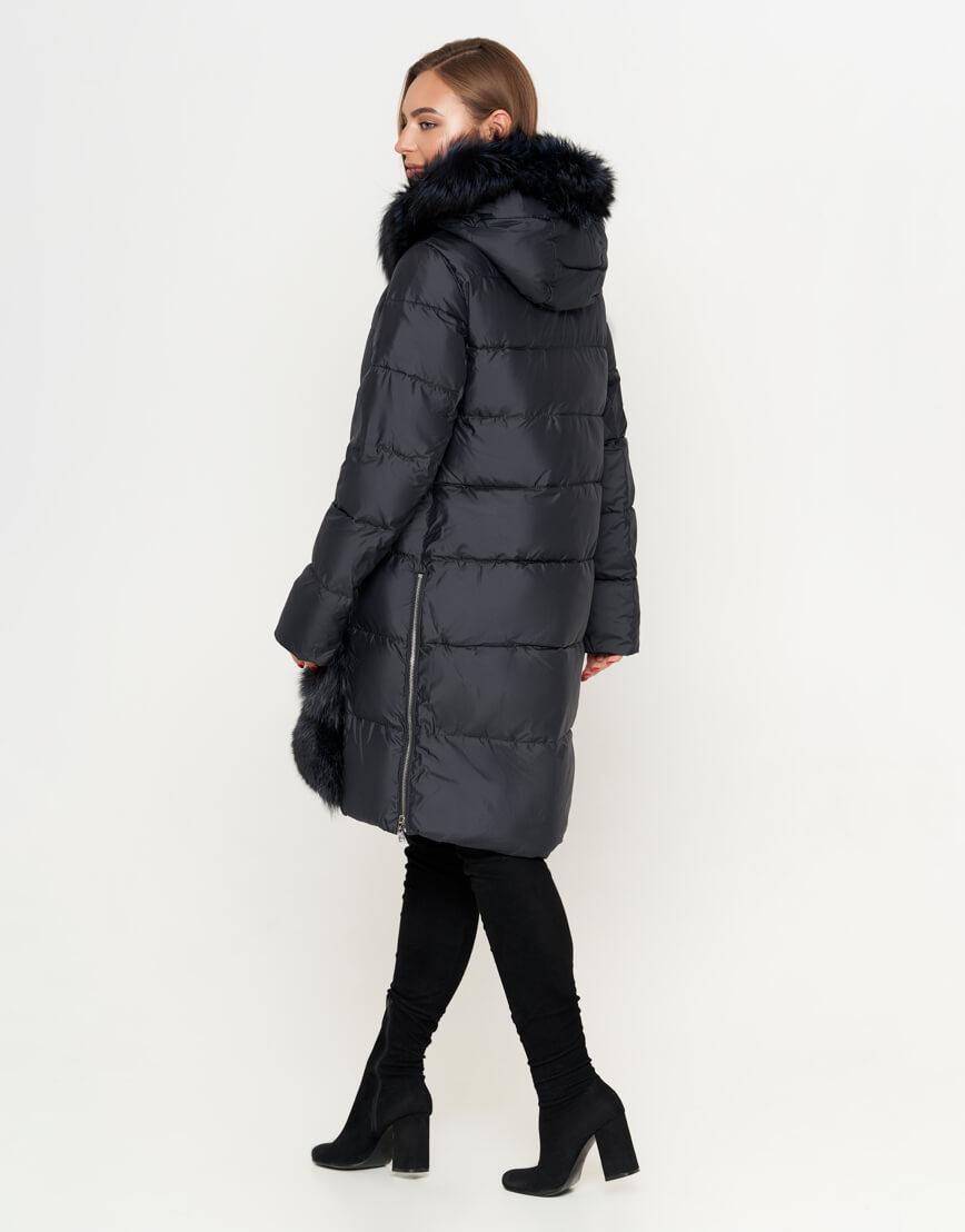 Женская куртка черная трендовая модель 8875