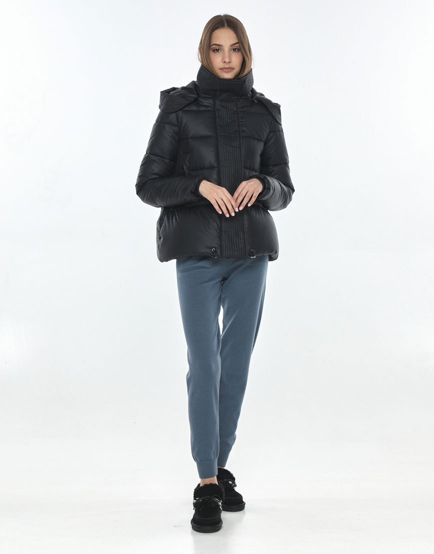 Куртка короткая чёрная женская Vivacana трендовая 9742/21 фото 1