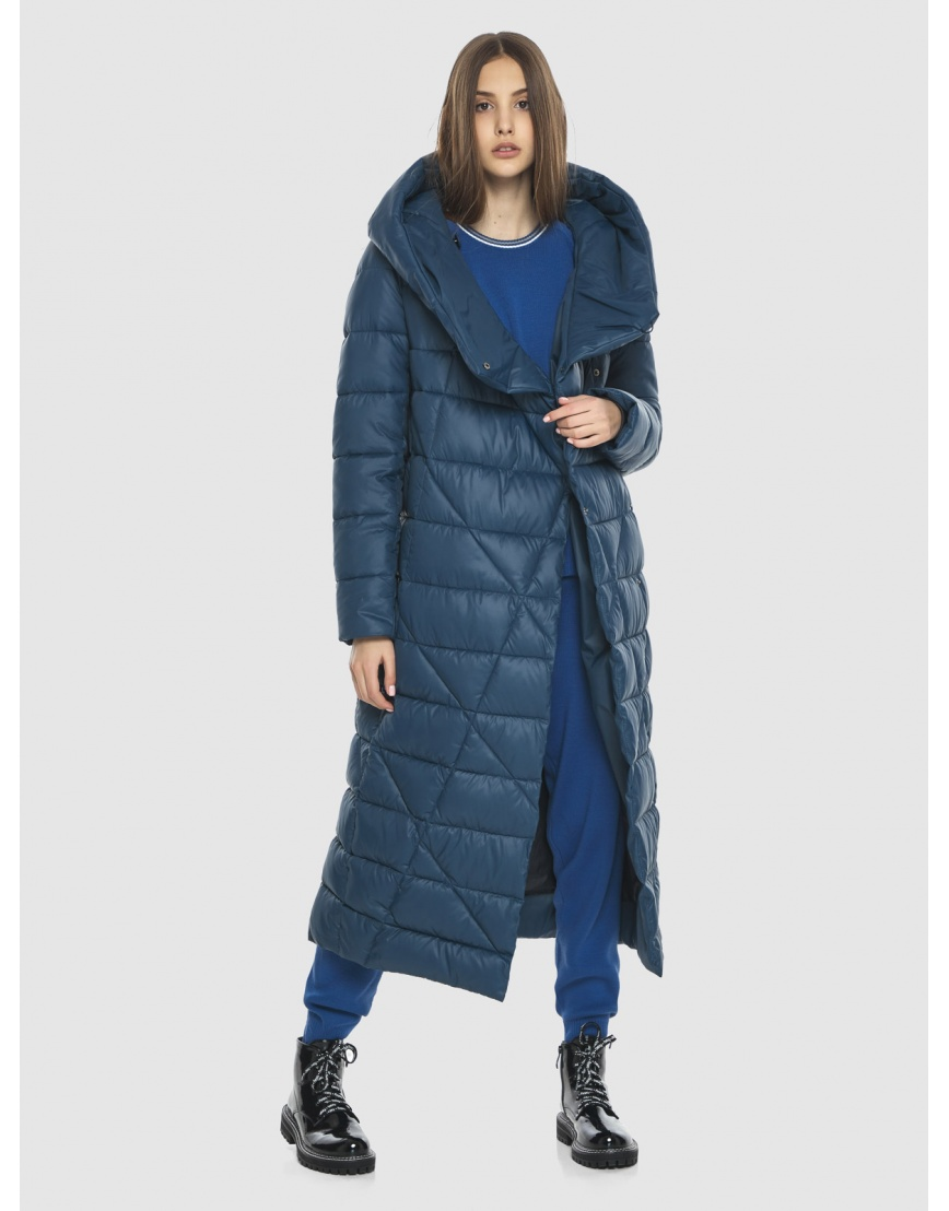 Синяя стильная зимняя подростковая куртка Vivacana для девушки 9470/21 фото 6