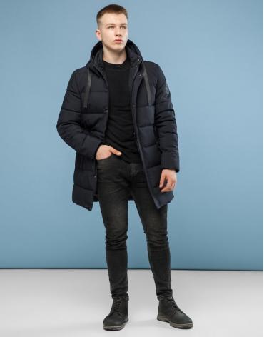 Черная зимняя куртка качественного пошива модель 6005 оптом