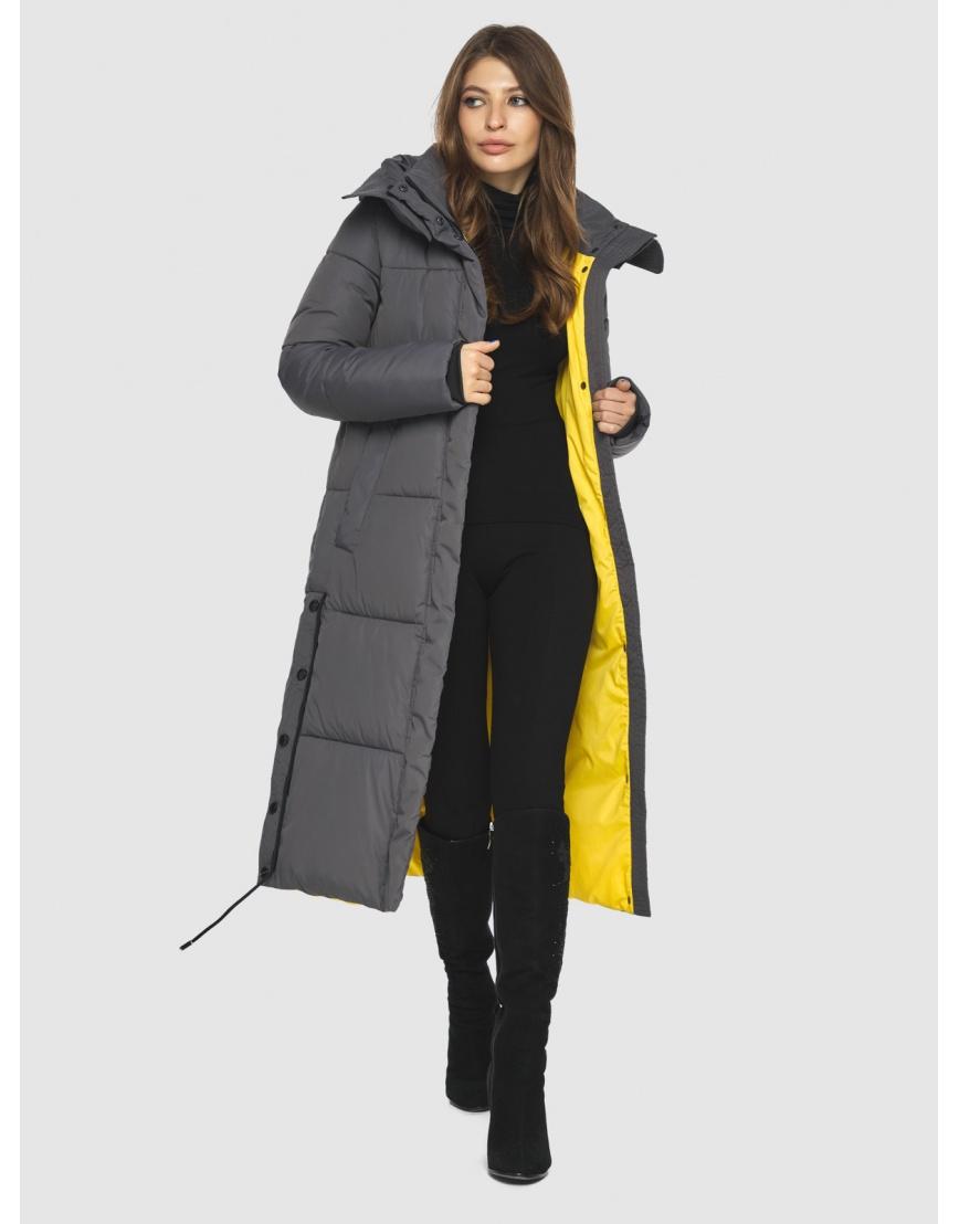 Куртка с капюшоном женская Ajento серая 23160 фото 2