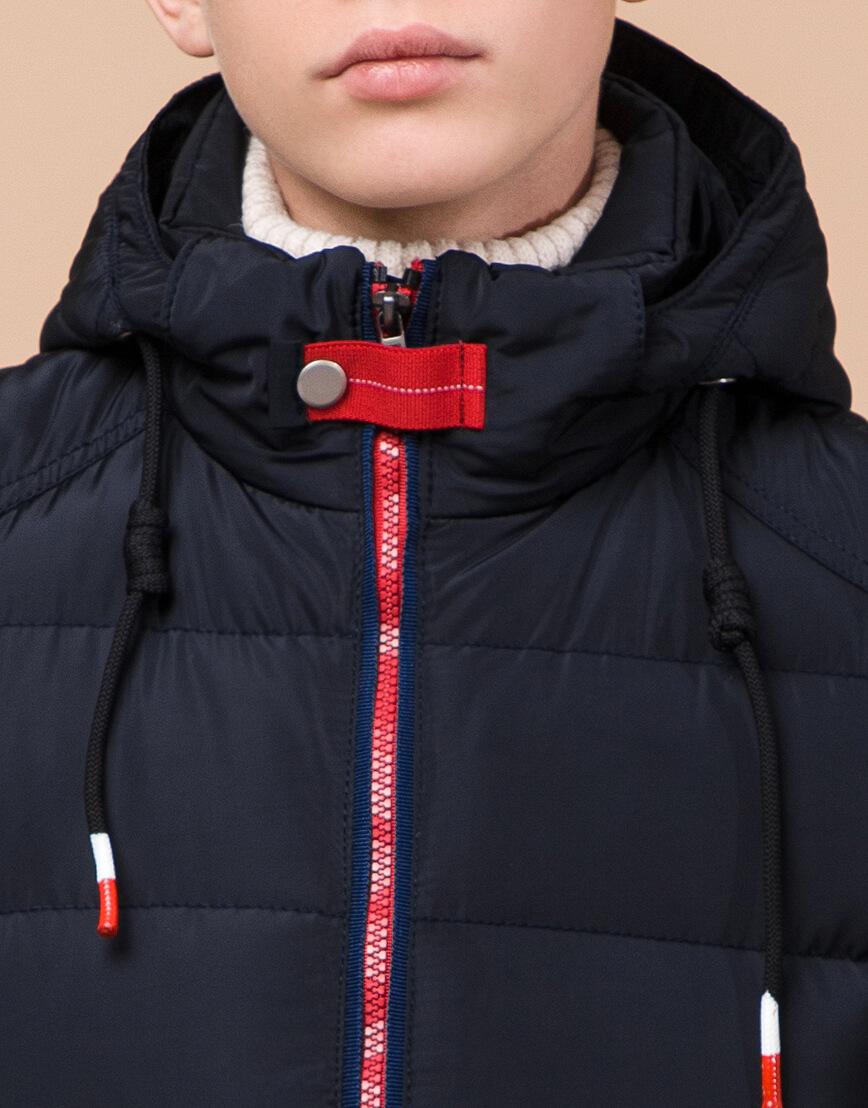 Детская темно-синяя куртка практичная модель 60455 оптом
