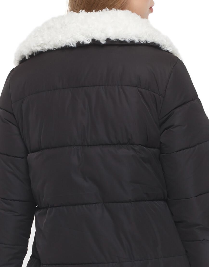 Женская черная куртка зимняя модель 5153 фото 6