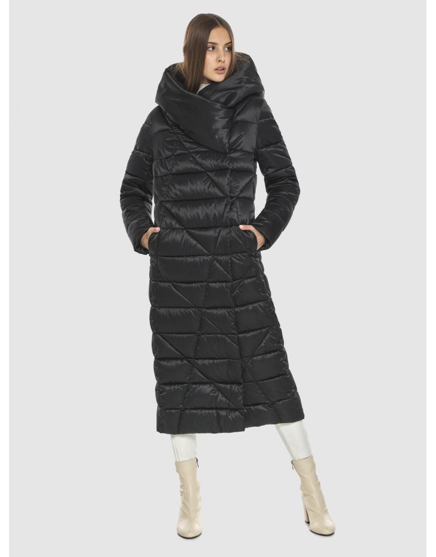 Курточка практичная подростковая Vivacana чёрная на зиму 9470/21 фото 1