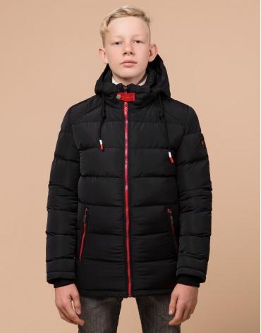 Комфортная куртка детская черного цвета модель 60455 оптом