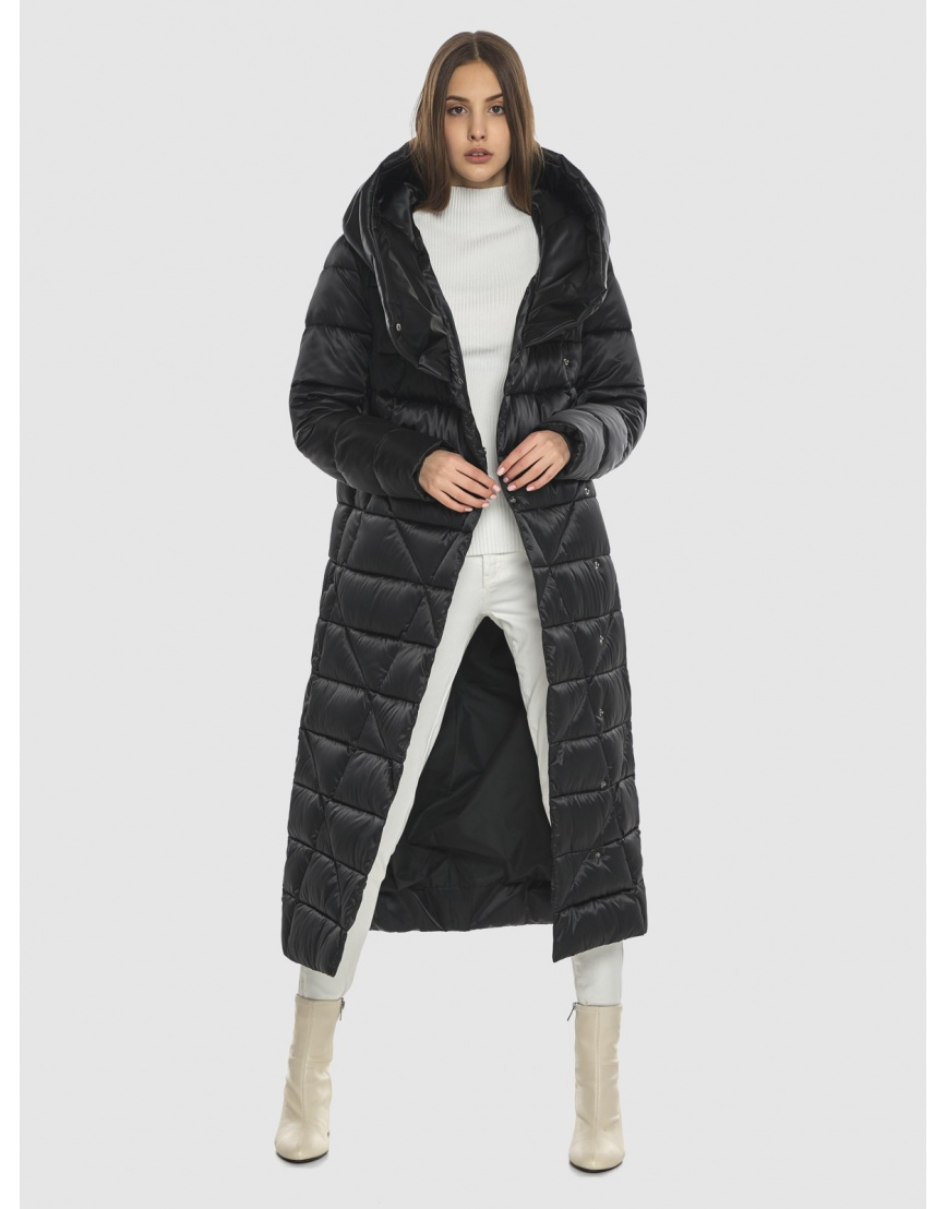 Курточка практичная подростковая Vivacana чёрная на зиму 9470/21 фото 2