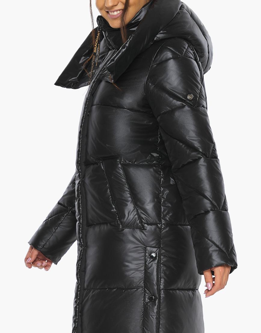 Модный воздуховик женский Braggart черный зимний модель 41565 фото 8