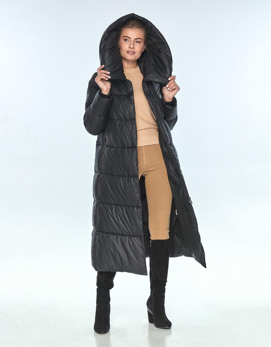Куртка чёрная женская Ajento зимняя 21550 фото 2