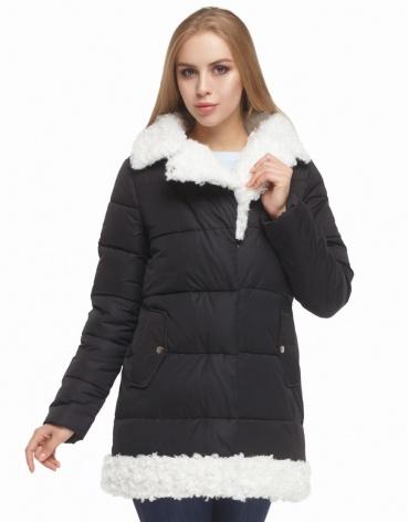 Женская черная куртка зимняя модель 5153
