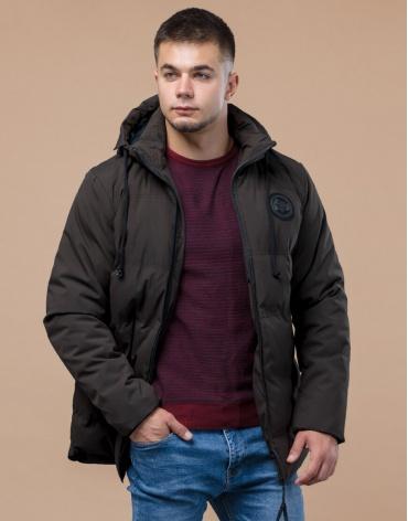 Зимняя комфортная молодежная куртка цвета кофе модель 25440