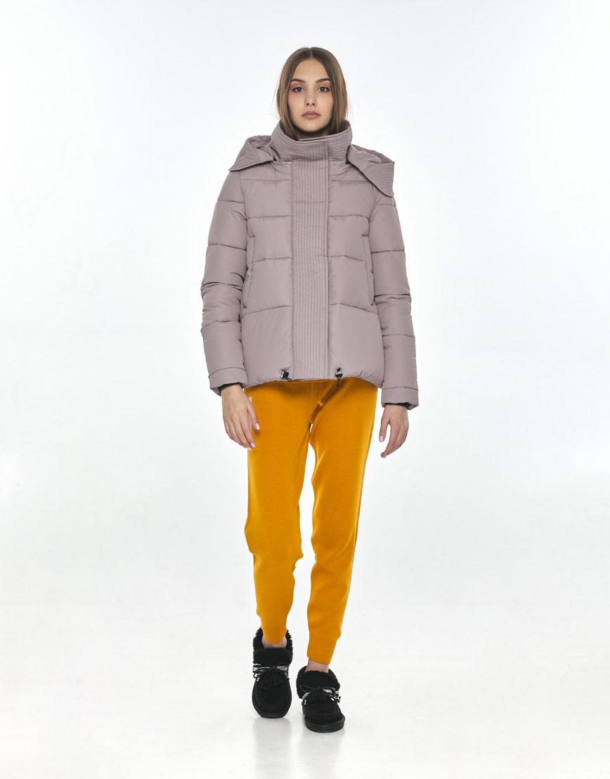 Женская комфортная куртка Vivacana пудровая 9742/21 фото 2