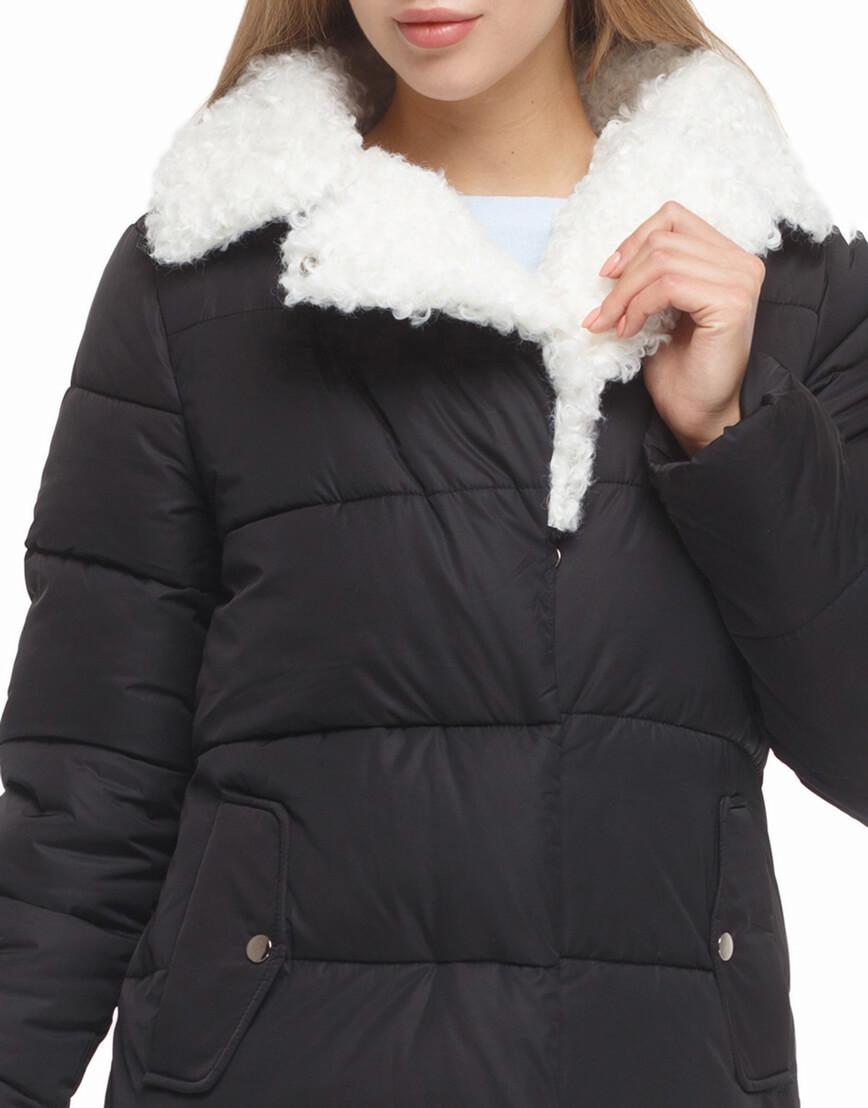 Женская черная куртка зимняя модель 5153 фото 5