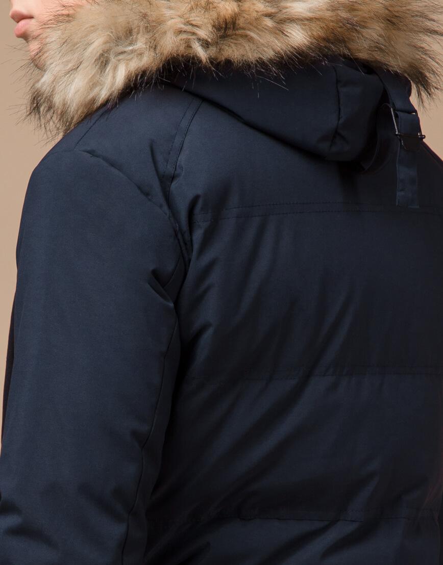 Синяя куртка зимняя удобного фасона модель 25550 фото 7