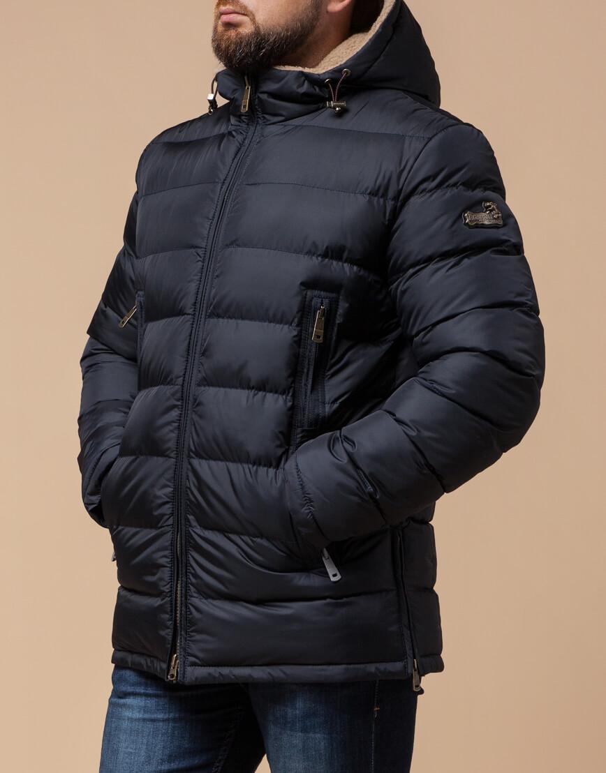Темно-синяя куртка на молнии модель 25285 фото 1