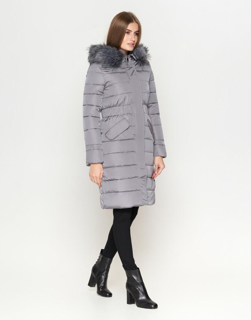 Серая практичная женская куртка модель 8606