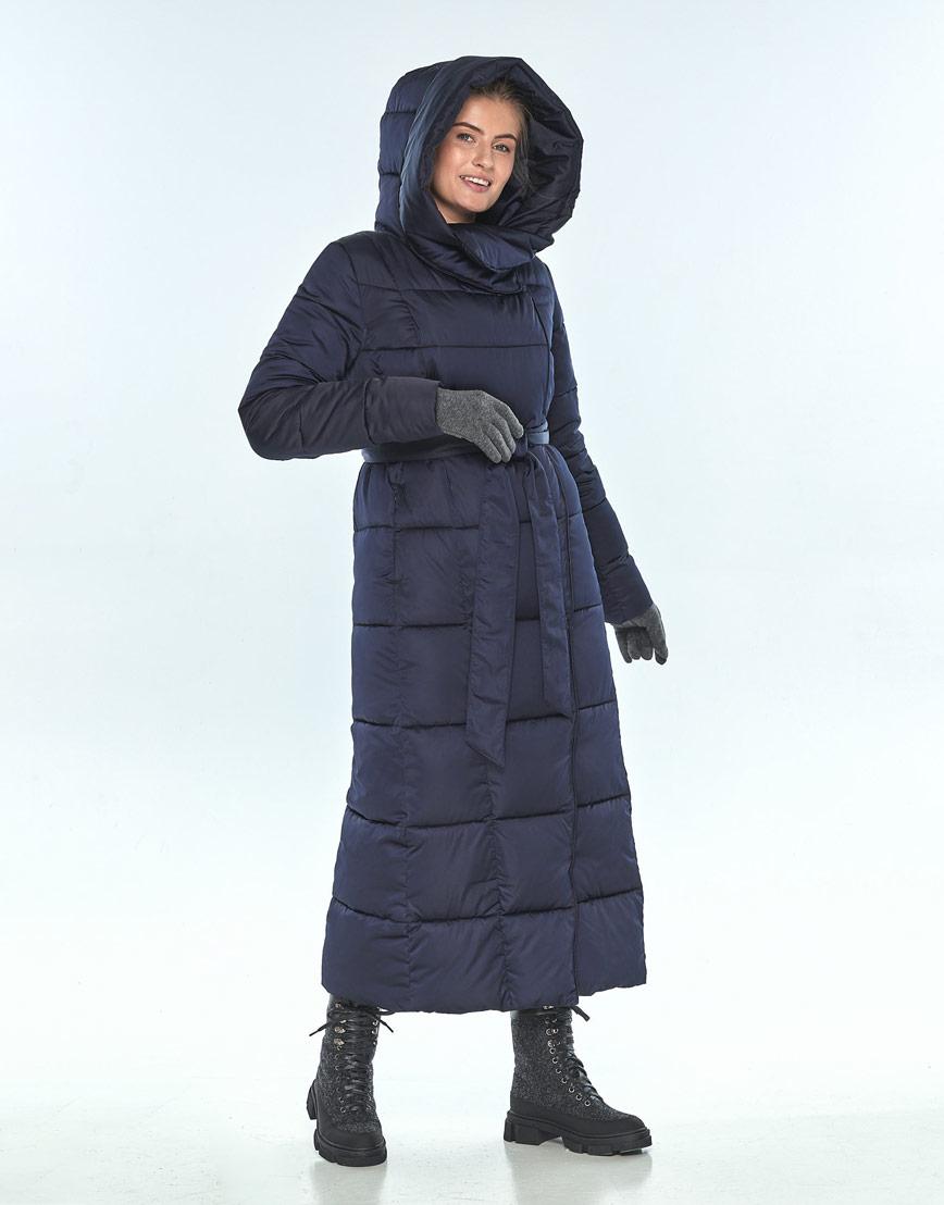 Удобная куртка синяя Ajento женская на зиму 22356 фото 2