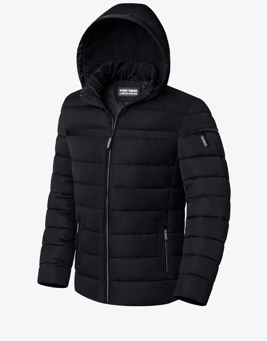 Куртка зимняя практичная черная модель 8812