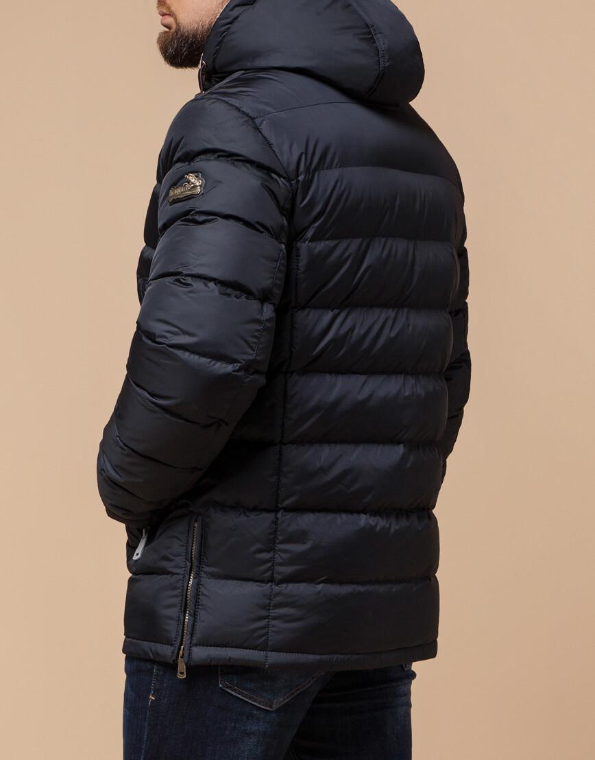 Темно-синяя куртка на молнии модель 25285 фото 3