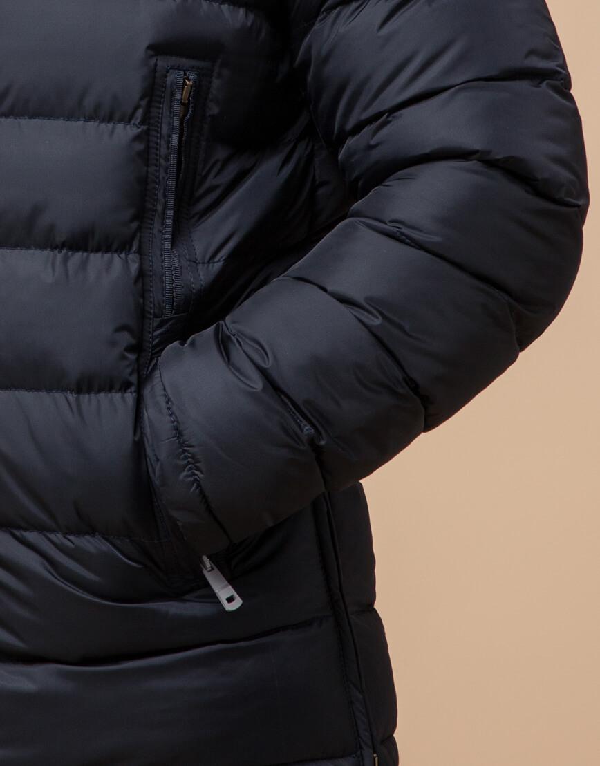 Темно-синяя куртка на молнии модель 25285 фото 5