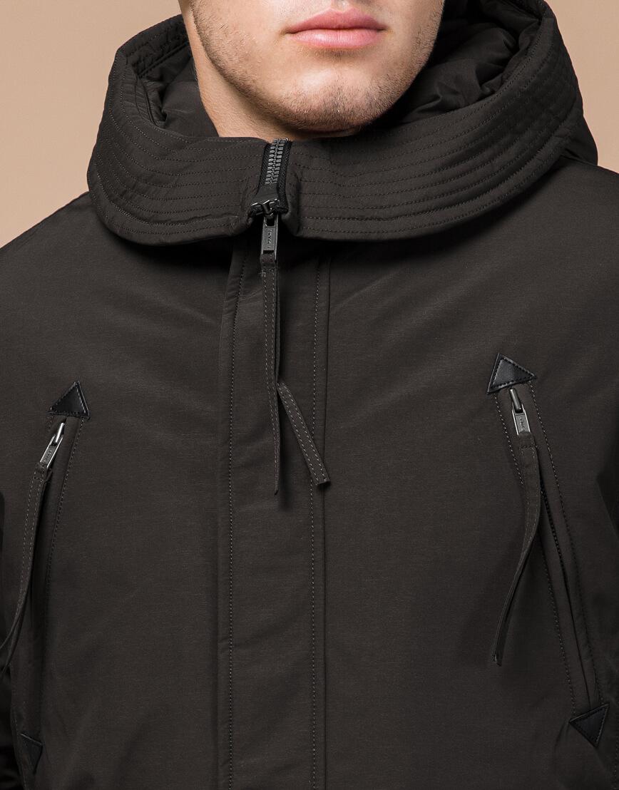 Зимняя коричневая парка для мужчин модель 23675 оптом