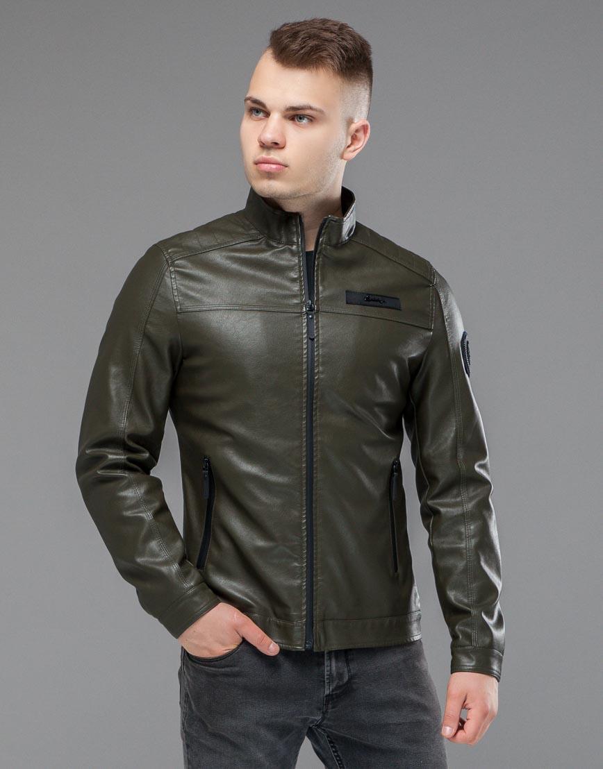 Куртка молодежная цвета хаки модель 25825 фото 2