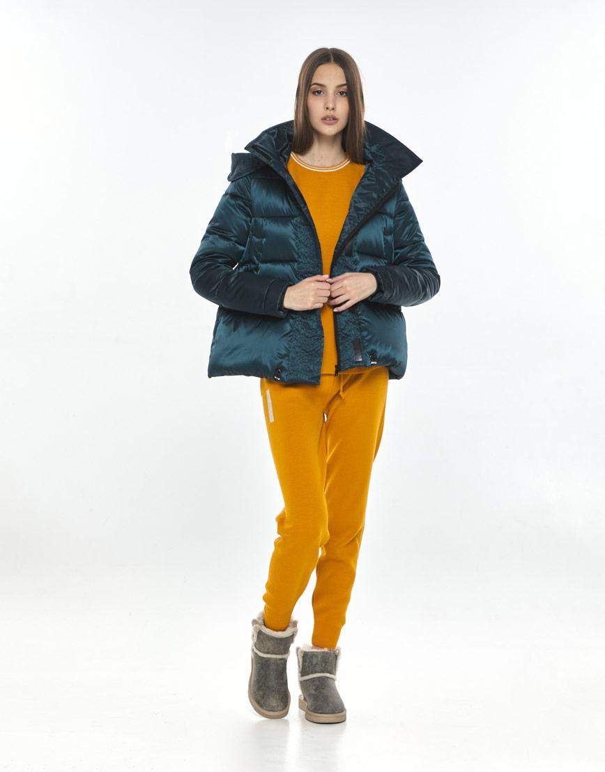 Куртка зелёная женская Vivacana фирменная 9742/21 фото 2