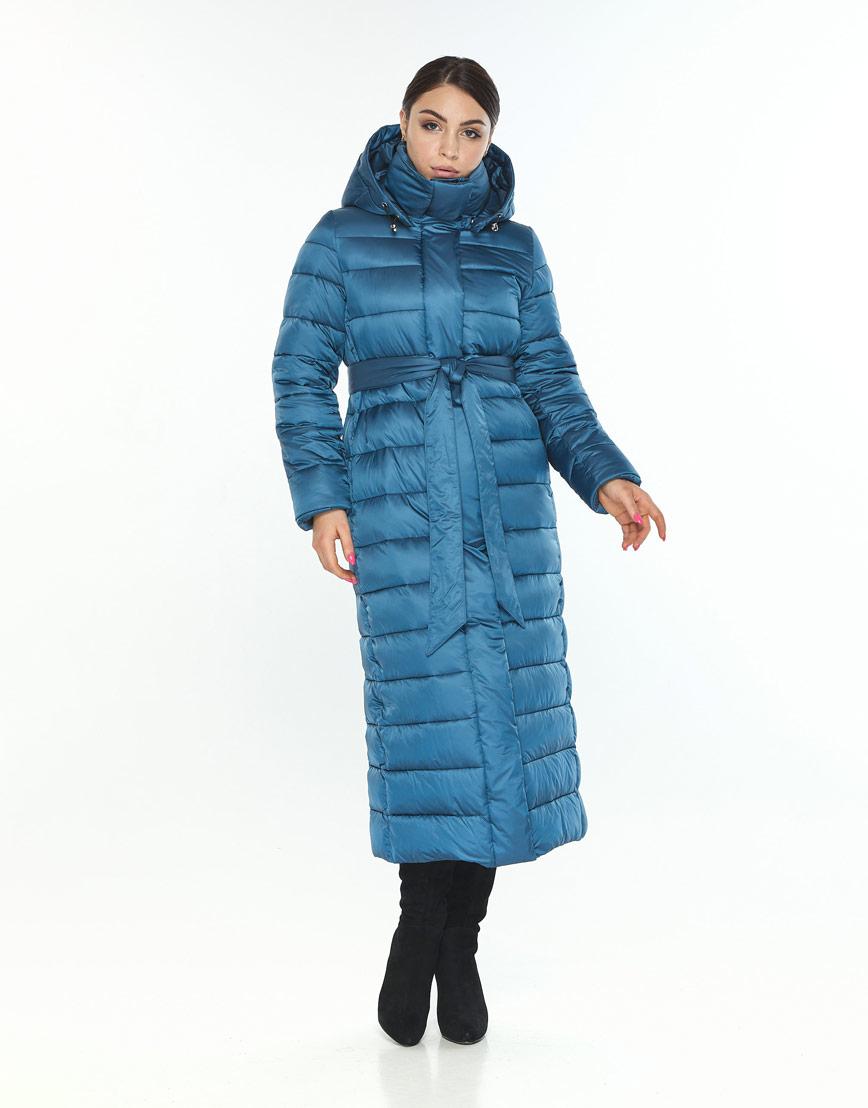 Женская куртка Wild Club удобная аквамариновая 524-65 фото 2