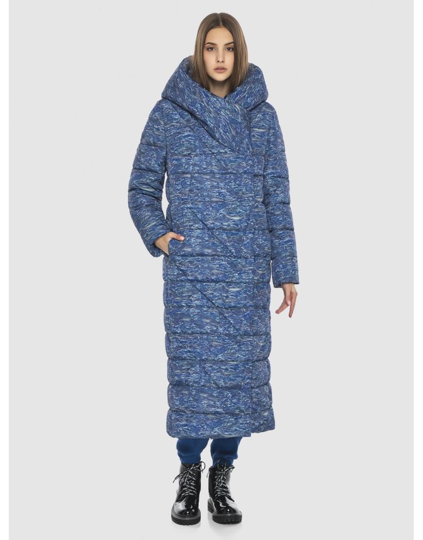 Люксовая куртка с рисунком зимняя Vivacana на подростка-девушку 9470/21 фото 1
