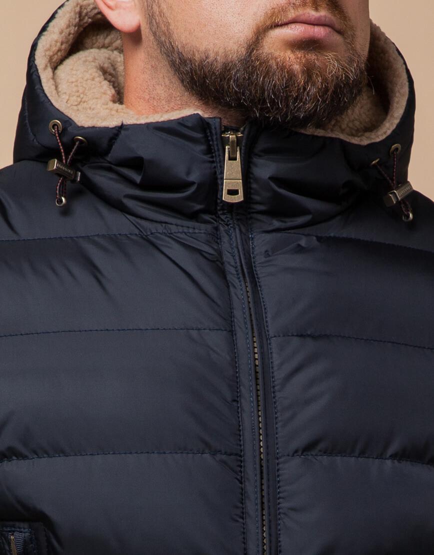 Темно-синяя куртка на молнии модель 25285 фото 4
