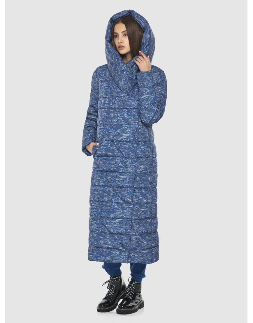 Люксовая куртка с рисунком зимняя Vivacana на подростка-девушку 9470/21 фото 3