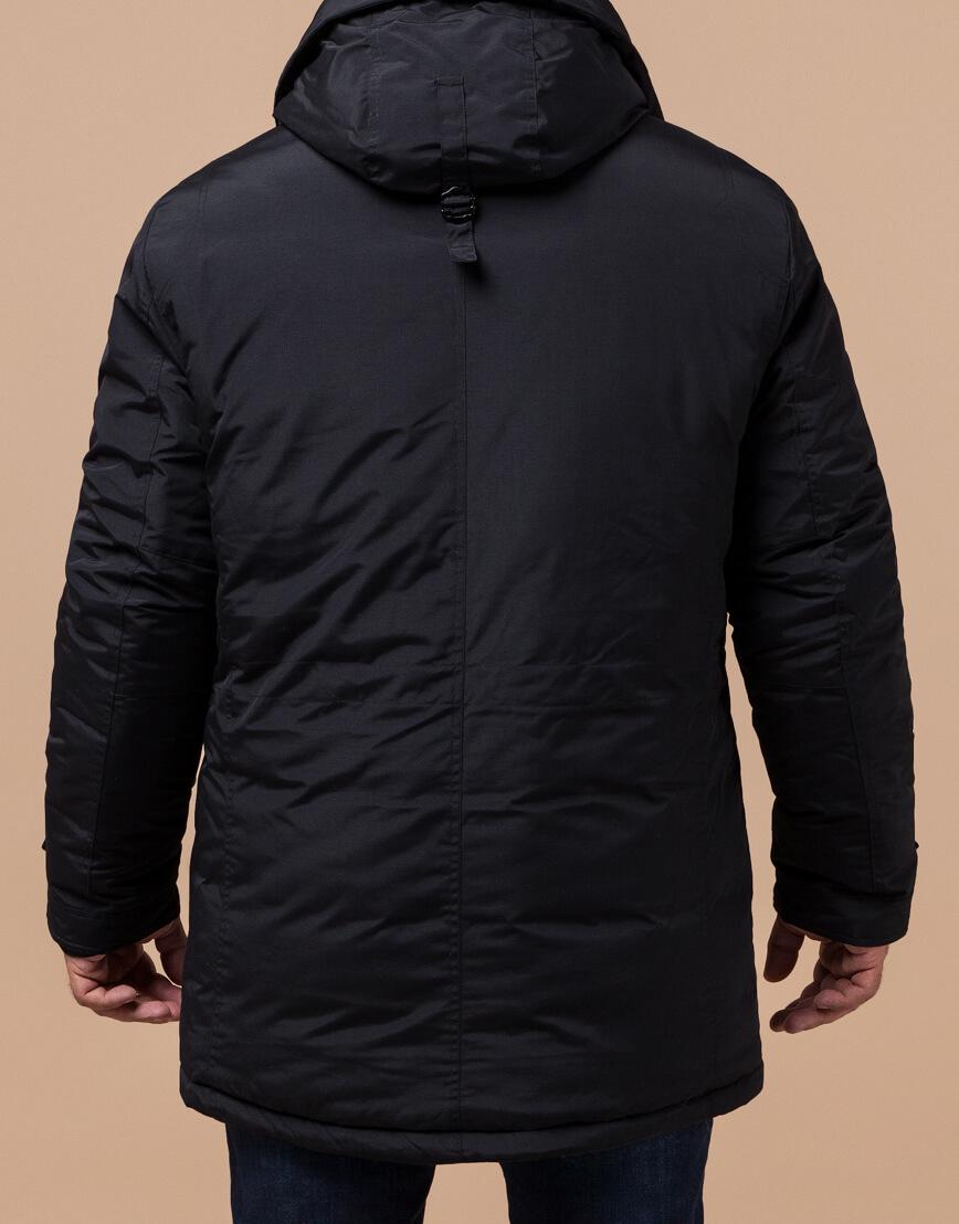 Черная парка с капюшоном зимняя модель 45950 фото 3