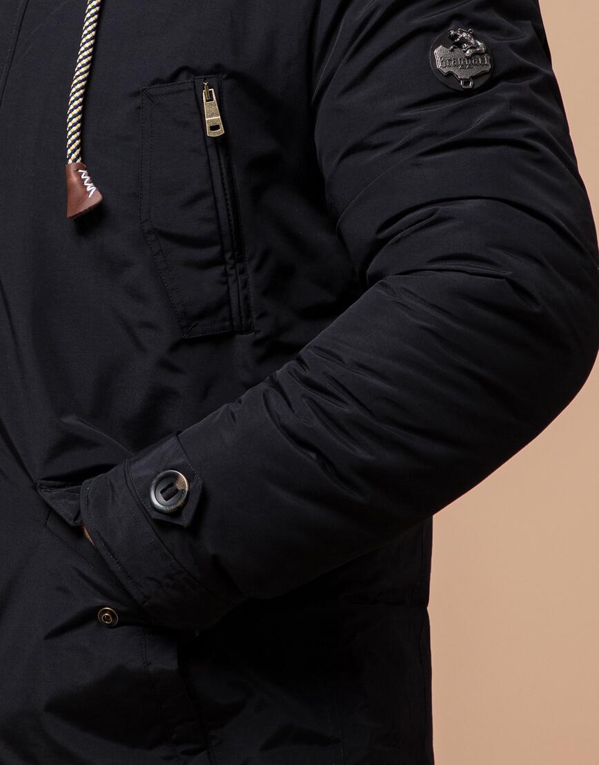 Черная парка с капюшоном зимняя модель 45950 фото 5