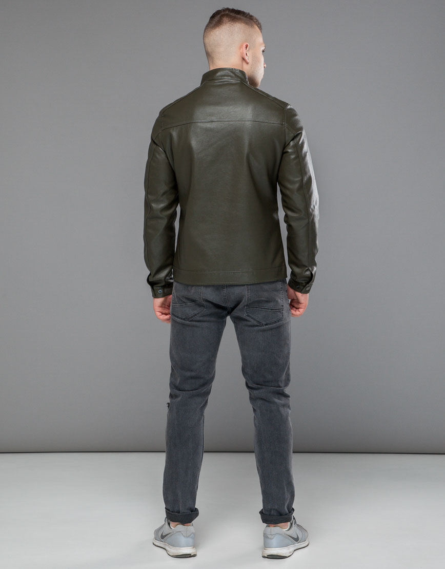 Куртка молодежная цвета хаки модель 25825 фото 4