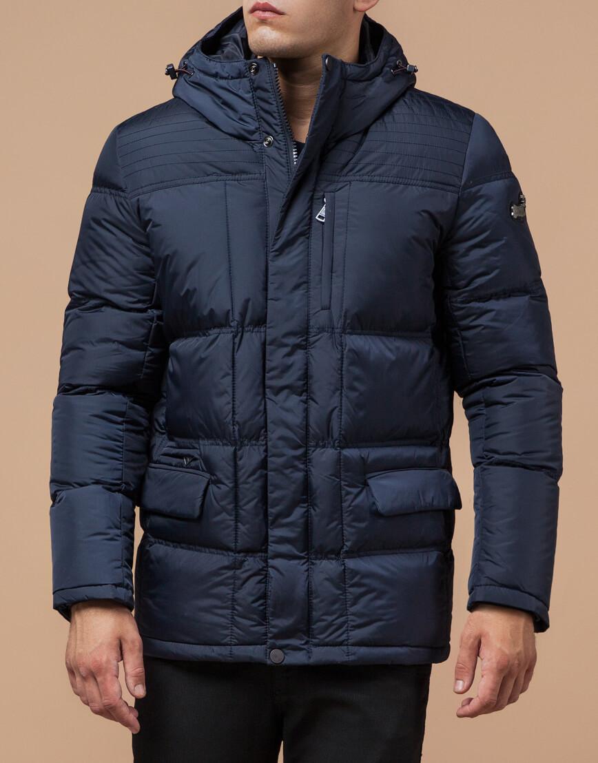 Непромокаемая куртка темно-синего цвета модель 2609 фото 2