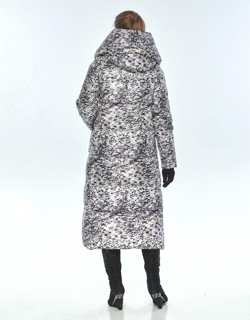 Зимняя куртка с рисунком женская Ajento модная 21550 фото 3