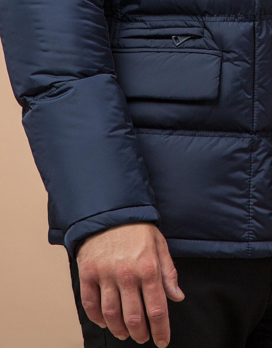 Непромокаемая куртка темно-синего цвета модель 2609 фото 5