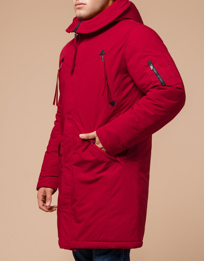 Мужская парка красная на зиму модель 23675 оптом фото 2