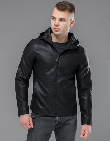 Брендовая черная куртка модель 15353