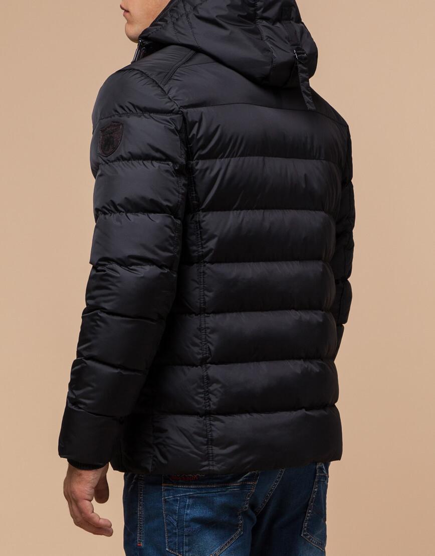 Черная качественная куртка с капюшоном модель 20849 фото 3