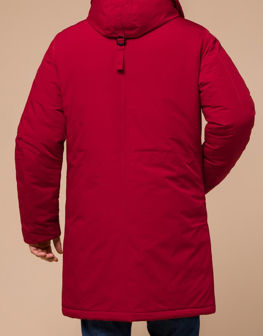 Мужская парка красная на зиму модель 23675 оптом фото 3