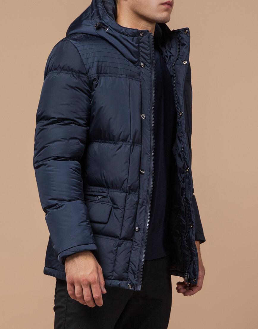 Непромокаемая куртка темно-синего цвета модель 2609 фото 1