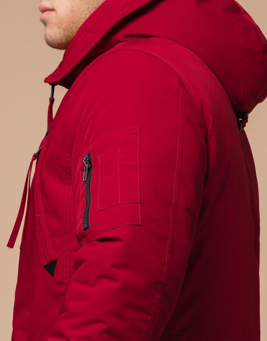 Мужская парка красная на зиму модель 23675 оптом фото 6