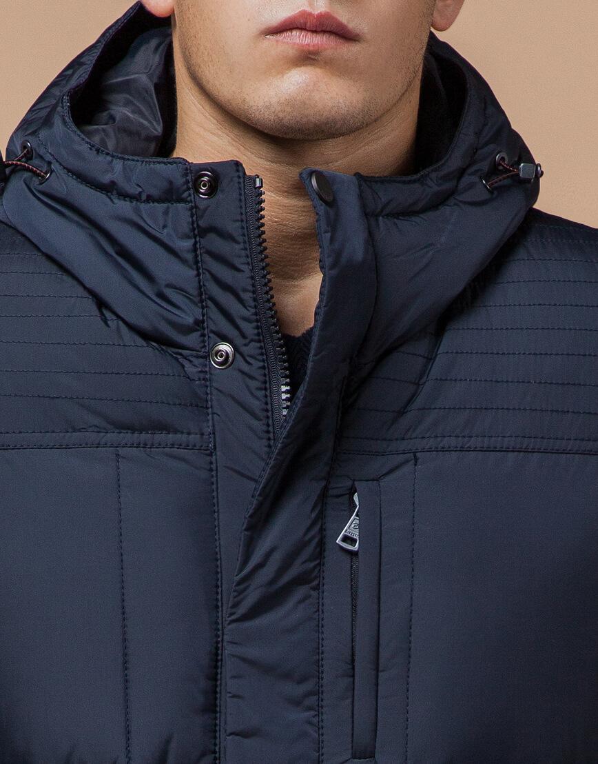 Непромокаемая куртка темно-синего цвета модель 2609 фото 4