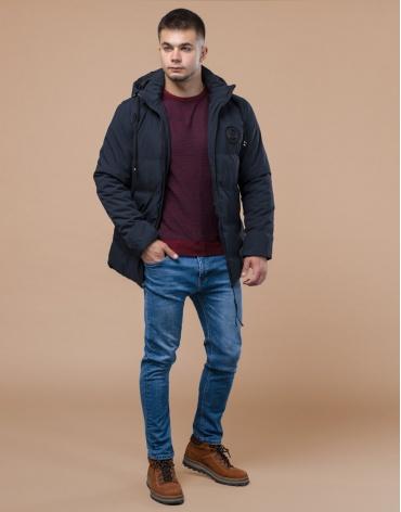 Синяя трендовая куртка молодежная модель 25440 фото 1